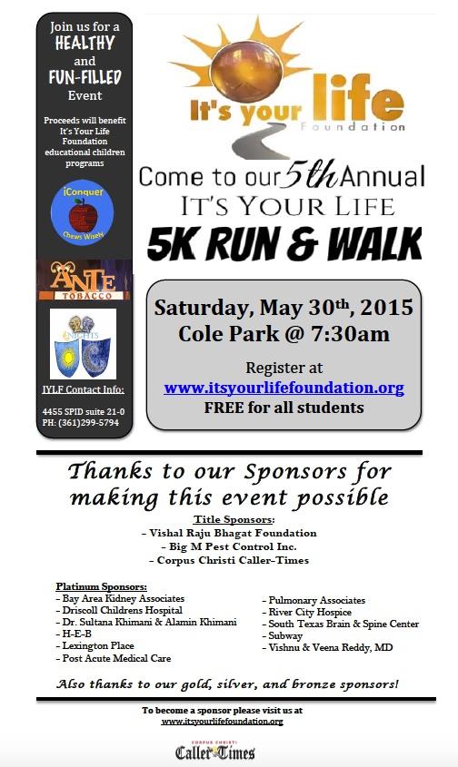 IYLF 5th Annual 5K Run & Walk Ad